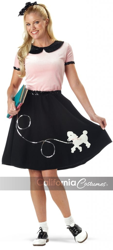 California Costumes 00710 Adult 50/'s Hop With Poodle Skirt