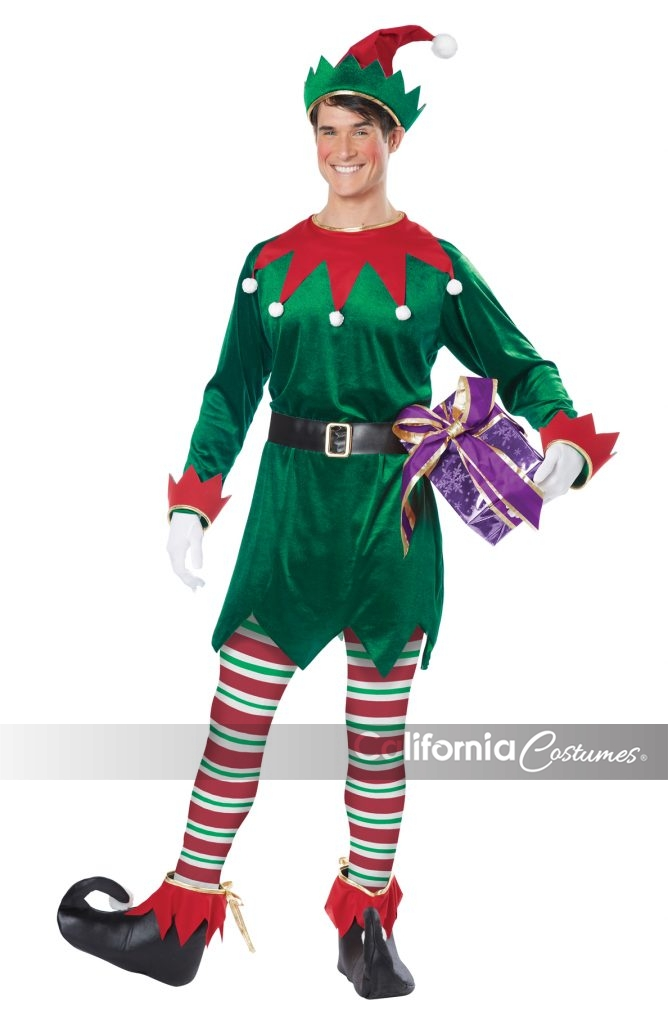 Adult 01554-LXL California Costume Elf Green//Red Christmas Costumes