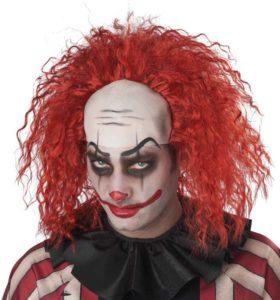 Clown Pattern Baldness Wig California Costumes